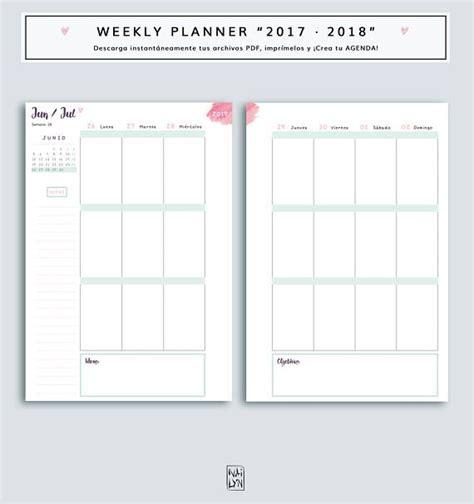 Calendario 2018 Semanal Best 25 Agendas Para Imprimir Ideas On Agenda