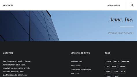 design custom header how to create a custom header using uncode s content block