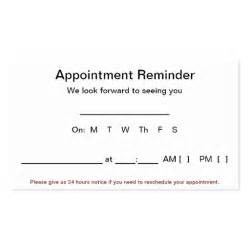 appointment reminder cards 100 pack white double sided