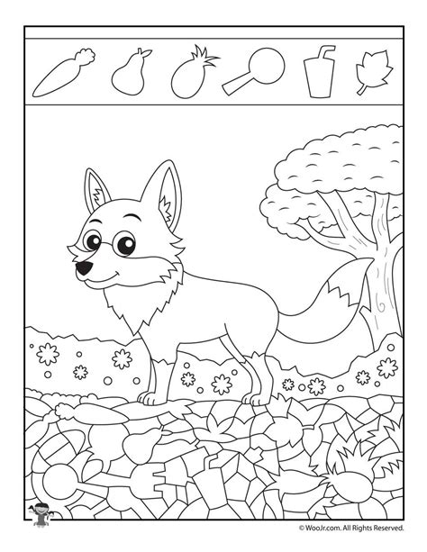 easy hidden pictures  animals printable activity pages