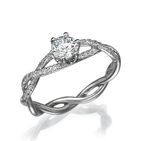 infinity engagement ring white gold ring infinity band