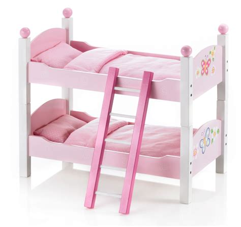 Wooden Doll Bunk Bed Bayer Chic 2000 Butterfly Wooden Dolls Bunk Beds