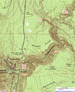 arizona topo maps topographic map of pumphouse wash near sedona arizona