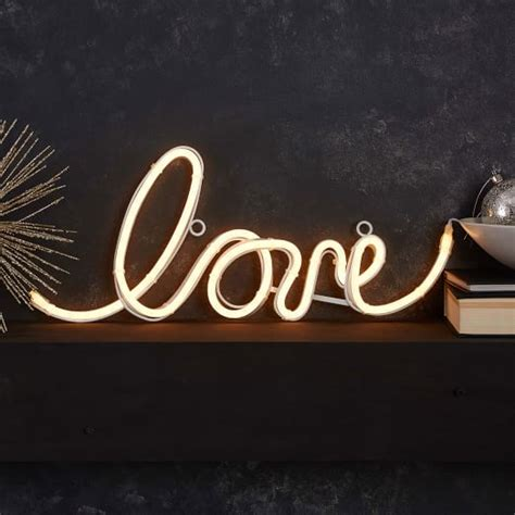 light words led light up word objects west elm