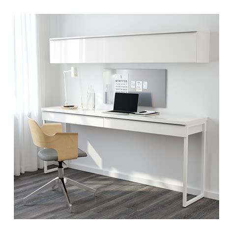 Besta Burs White Desk best 197 burs desk combination high gloss white 180x40 cm ikea
