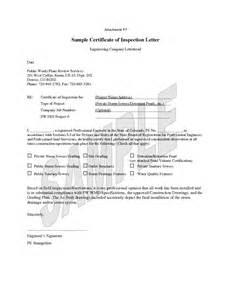 Roof Certification Letter letter mold inspection report letter notice of inspection letter