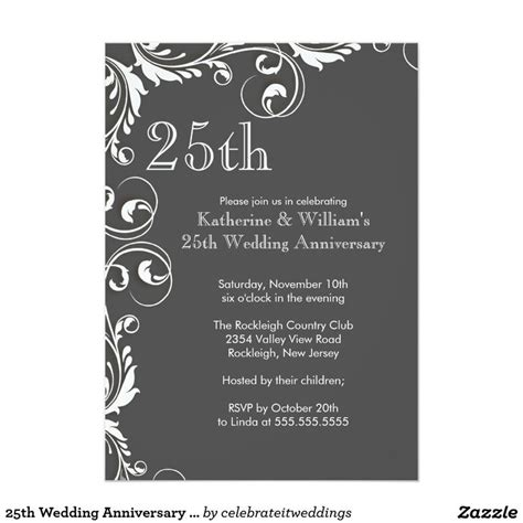 Cheap 25th Wedding Invitations by 25 Best Ideas About Anniversary Invitations On