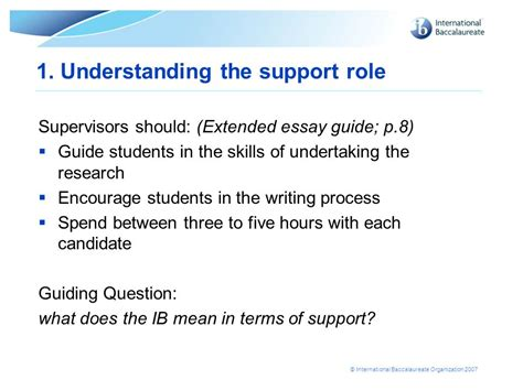 Extended Essay Guide by Extended Essay Scoring Guide