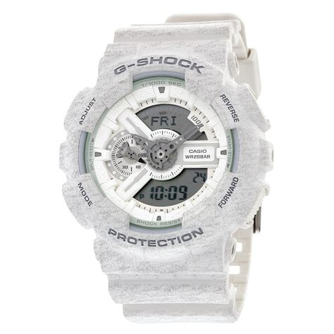 Casio G Shock Ga 110tp 7a White by Casio G Shock Analog Digital White Pattern Resin