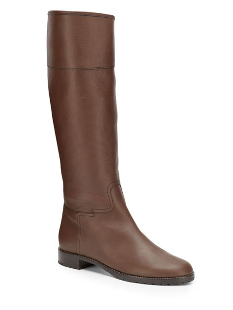 brown flat boots giuseppe zanotti flat leather boots in brown lyst