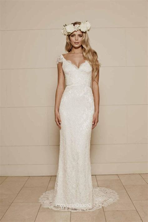 Simple Wedding Dresses by Simple Wedding Dress With Cap Sleeves Naf Dresses