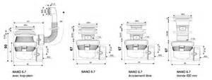 nano 6 7 bonde et siphon de lavabo ultra compact