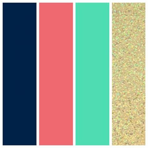 color schemes with navy wedding color palette navy coral seafoam and gold