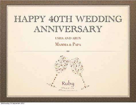 40TH WEDDING ANNIVERSARY QUOTES POEMS image quotes at