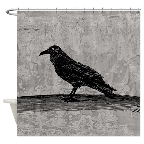 raven shower curtain a raven shower curtain by opheliasart