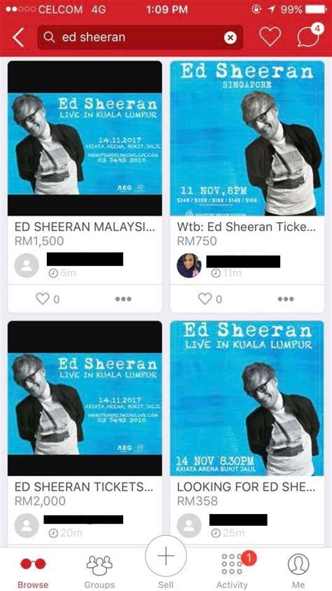 ed sheeran concert malaysia ed sheeran s kl concert tickets sold out gets resold at