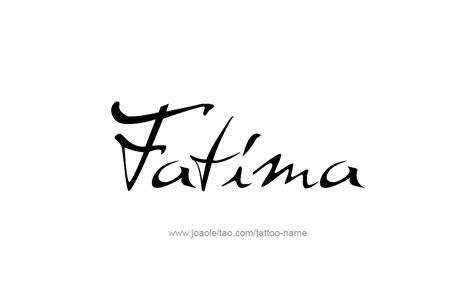 fatima name tattoo designs