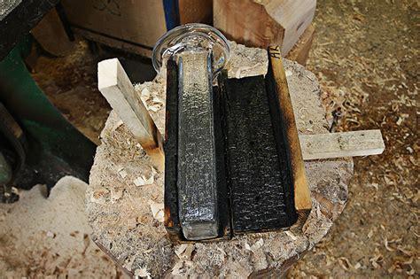Wood Maxim Velcovsky by Yakisugi By Kengo Kuma Lasvit Imprints Wooden Texture On Glass