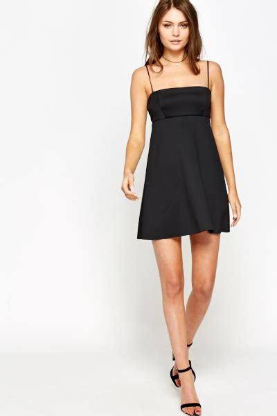 spaghetti swing spaghetti black swing dress just 163 5
