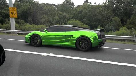 Neon Green Lamborghini Shiny Neon Green Lamborghini