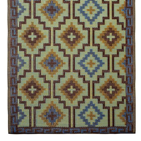 Lhasa Outdoor Rug Lhasa Outdoor Rug In Blue Brown Outdoor Rugs Cuckooland