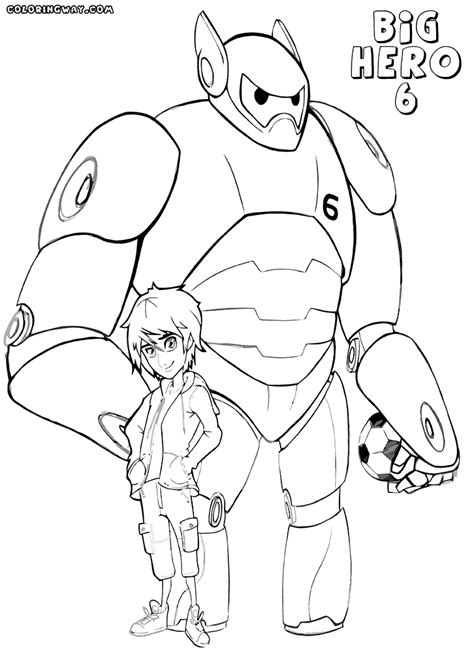 big hero 6 coloring pages coloring pages to download and