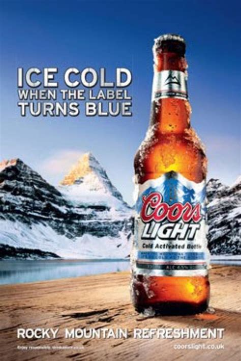 Kaos Rockx Silver Tide 1 this advertisement is for the cold coors light