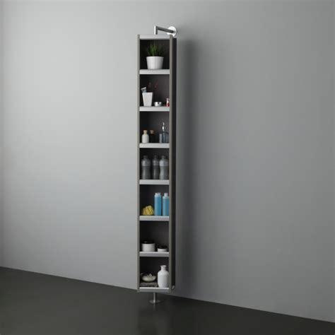 colonna bagno girevole colonna girevole con specchio e vano a giorno colore grigio