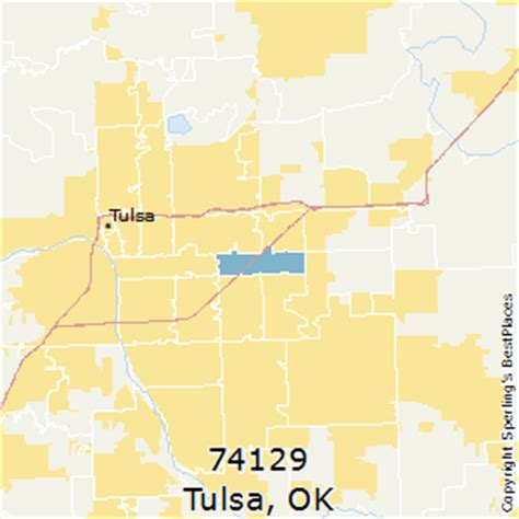 zip code map norman ok best places to live in tulsa zip 74129 oklahoma