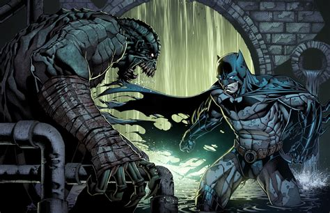 batman killer croc killer croc vs batman by juan7fernandez on deviantart