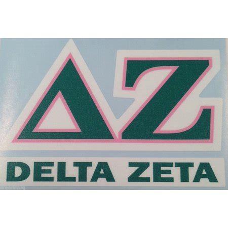delta zeta colors delta zeta color letter name car computer sticker