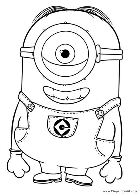 imagenes del minions kevin para dibujar 10 dibujos para imprimir y colorear etapa infantil