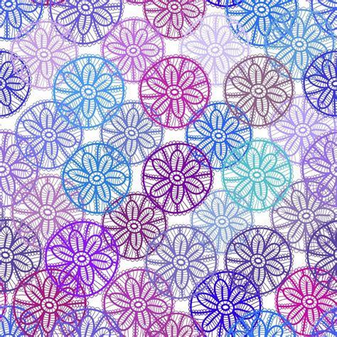 Muster Hintergrund Blumen Blau by Nahtlose Muster Mit Lila Rosa Lila Blaue Blumen Auf Wei 223 Em