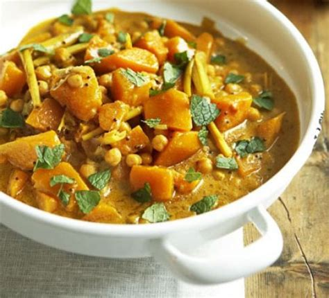 pumpkin food pumpkin curry with chickpeas recipe food