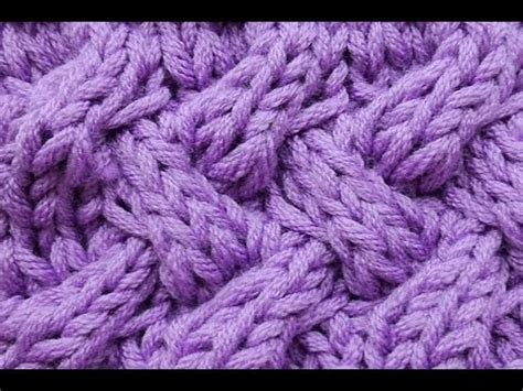 cable pattern knit youtube how to knit fake entrelac braid stitch cable stitch