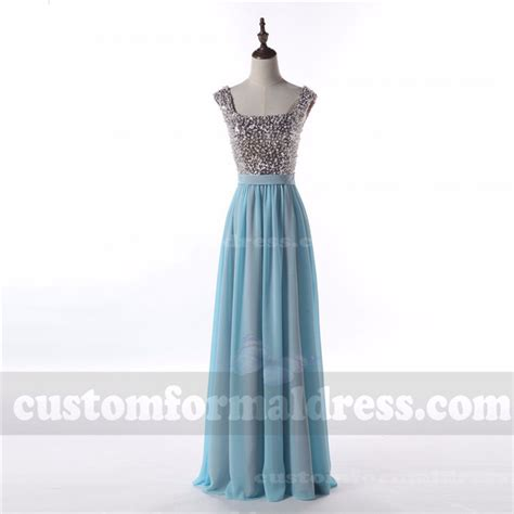 light blue sequin dress light blue sequin prom dresses chiffon bridesmaid