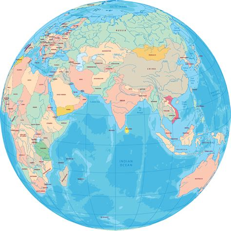 map of globe continent of asia maps and pictures