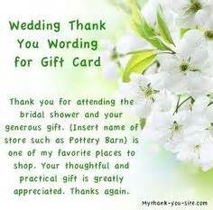 thank you words for monetary wedding gifts 2 wedding thank you wording bridal shower thank you