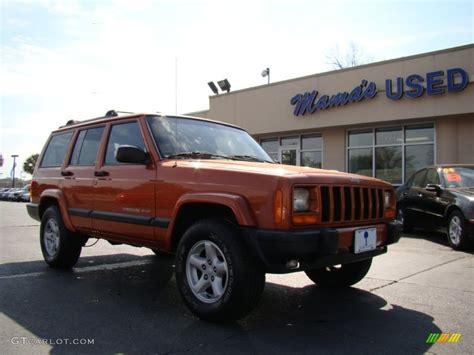 jeep cherokee fire 2001 amber fire pearl jeep cherokee sport 61761502 photo