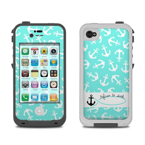 iphone 4 cases lifeproof iphone 4 skin refuse to sink by boothe decalgirl