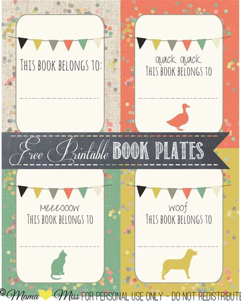 sticker book template 34 best bookplates images on
