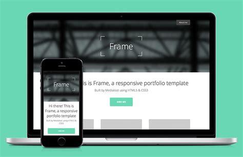 responsive portfolio templates frame responsive portfolio html5 template medialoot