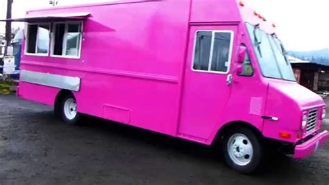 pink food truck custom built catering kitchen youtube