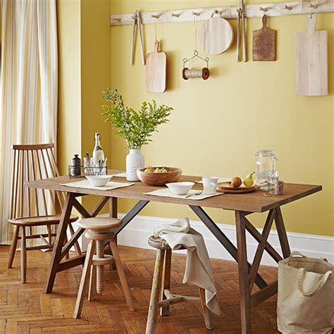 coastal living dining room ideal home housetohome updating primrose yellow country dining room dining room