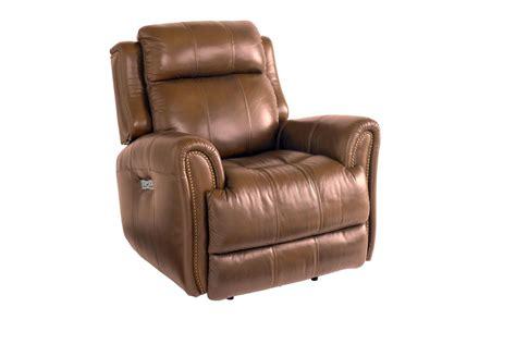 bassett recliner bassett marquee basf 3707 p0u umber leather power