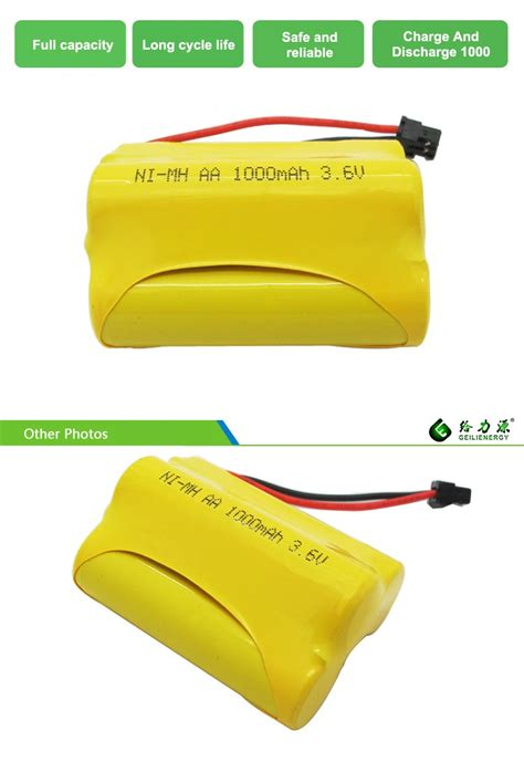 Feeby Ni Cd Aa Battery 900mah With Button Top 2pcs 2 ni cd 3 6v 1000mah aa rechargeable batteries cells packs view aa battery geilienergy product