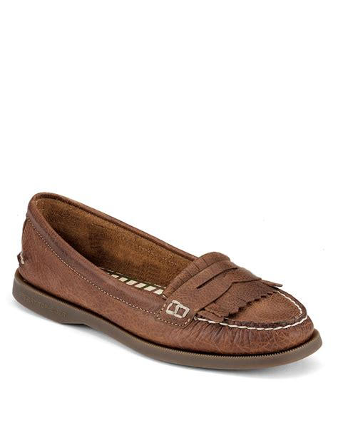 top loafers sperry top sider avery leather loafers in brown