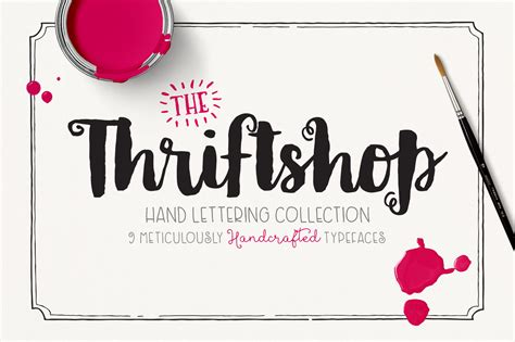 Handcrafted Fonts - free handcrafted font duo from the thriftshop font family