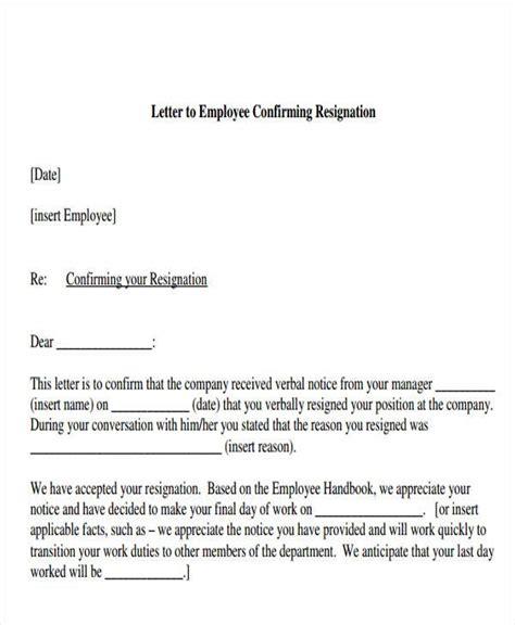 resignation acknowledgement letter templates