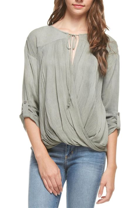 Olive Blouse Wd 1 lush olive high low blouse from pennsylvania by apricot lehigh valley shoptiques